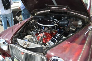 Ian's Rover P4 with V8 engine.